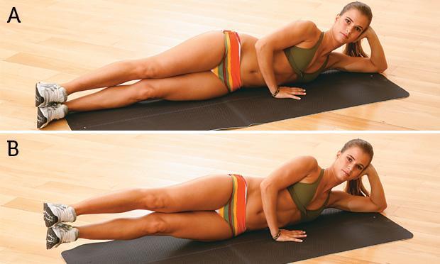 Exercícios para emagrecer e perder barriga ELEVAÇÃO-LATERAL-DAS-PERNAS