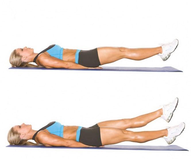 Exercícios para emagrecer e perder barriga Chutes-tesoura